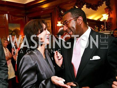 Keiko Kaplan, Eric Motley. Photo by Tony Powell. Young Concert Artists Gala Dinner. Indian Ambassador's residence. May 1, 2013