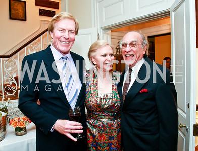 Bob and Olga Ryan, Giorgio Contis. Photo by Tony Powell. Young Concert Artists Gala Dinner. Indian Ambassador's residence. May 1, 2013