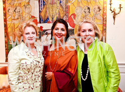 Mary Mochary, Indian Amb. Nirupama Rao, Gilan Corn. Photo by Tony Powell. Young Concert Artists Gala Dinner. Indian Ambassador's residence. May 1, 2013