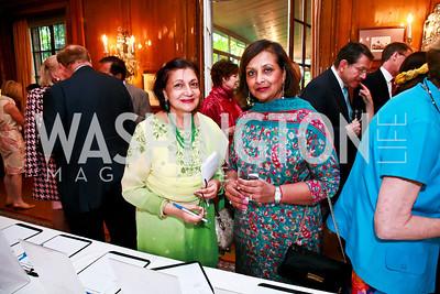 Mahinder Tak, Indu Jindia. Photo by Tony Powell. Young Concert Artists Gala Dinner. Indian Ambassador's residence. May 1, 2013