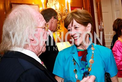 Rolf Graage, Jonda McFarlane. Photo by Tony Powell. Young Concert Artists Gala Dinner. Indian Ambassador's residence. May 1, 2013