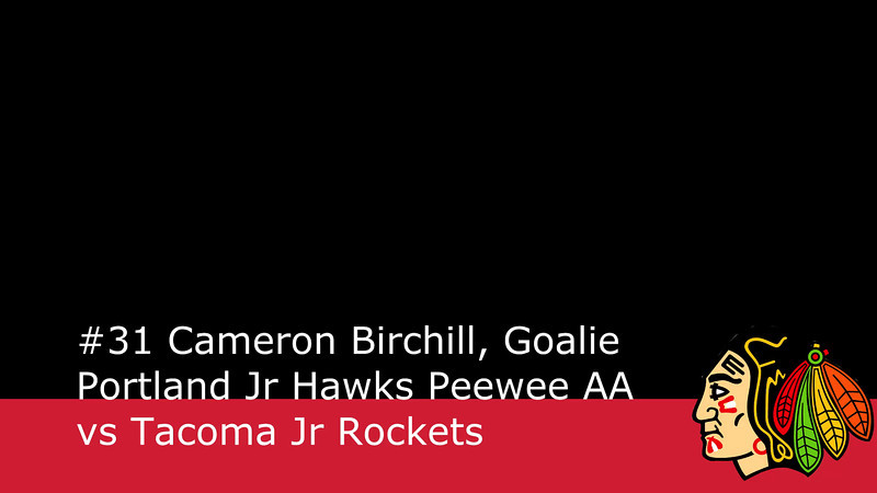 Saves, Goals, and other Goalie Highlights from the 1/26/2013 game vs the Tacoma Jr Rockets.