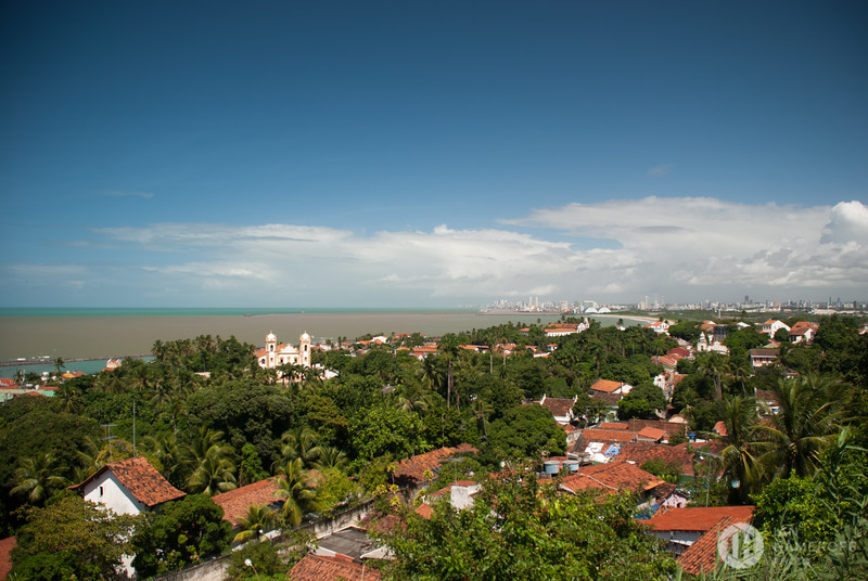 Looking from Olinda to Recife
