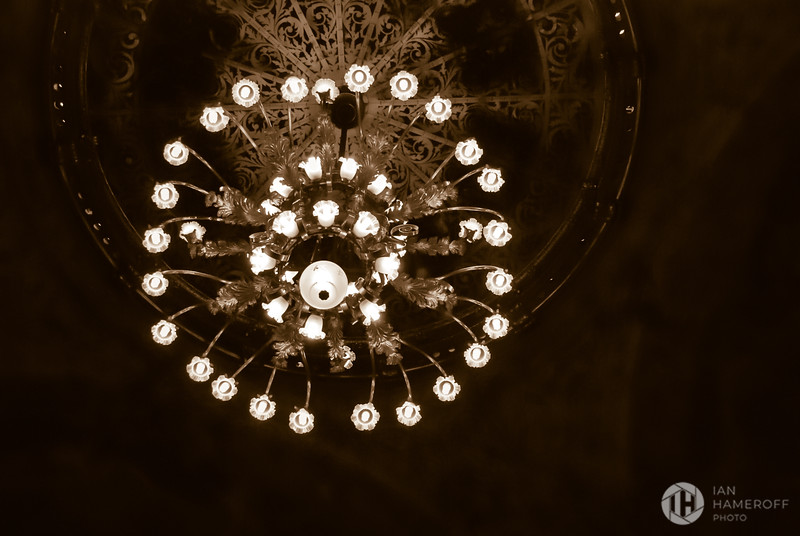 Sepia Chandelier
