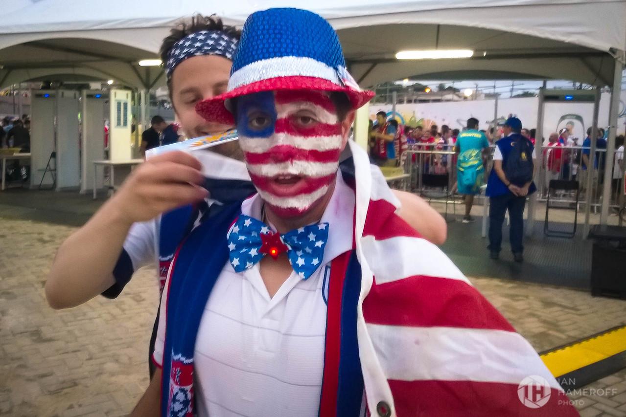 USA Fans Prepare