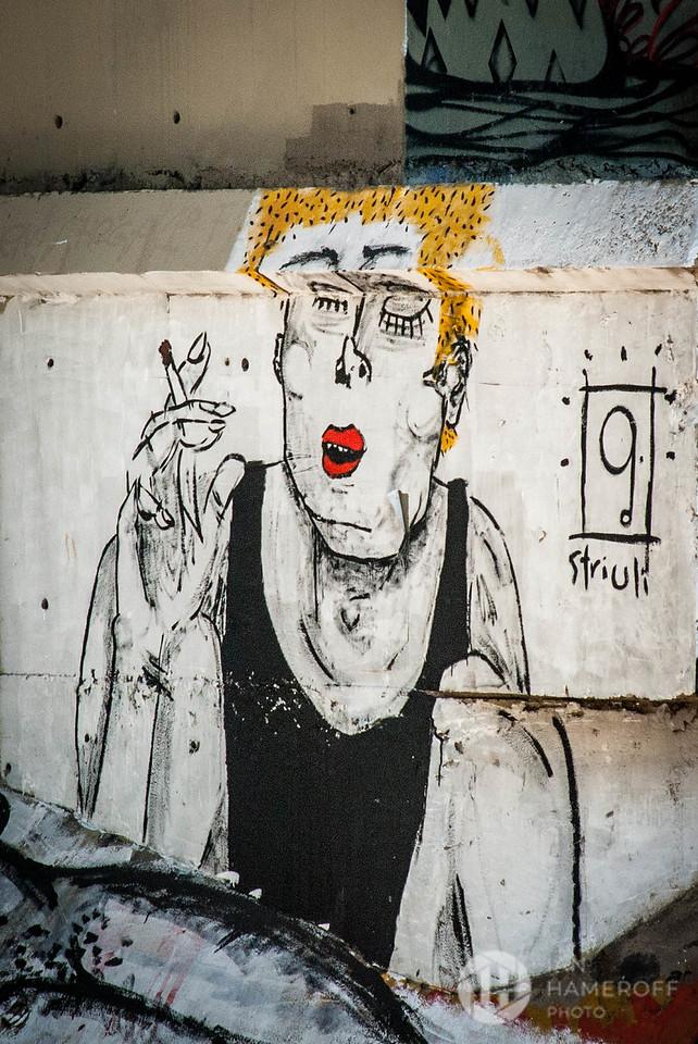 Smoker Under the Overpass