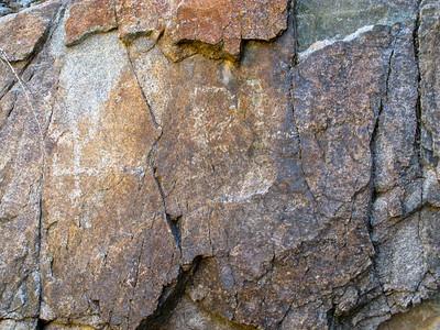 Petroglyphs at spring