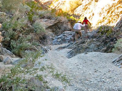 Trampas Wash narrows on return trip