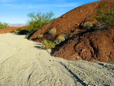 Granitic gravel and volcanic rock