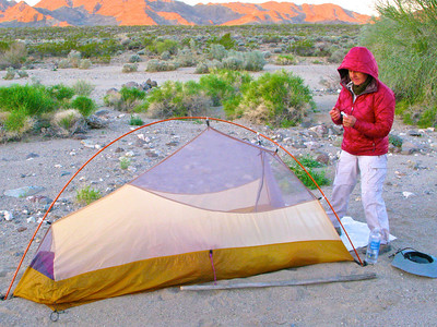 Single layer of two layer tent