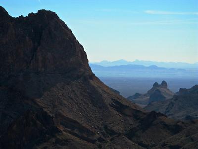 Chasm on north rim of North Mesa