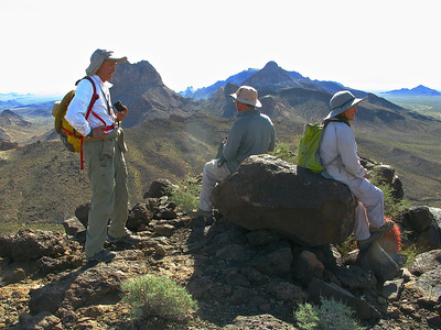 Andy, Peter, and Esperanza and Mopah Peaks