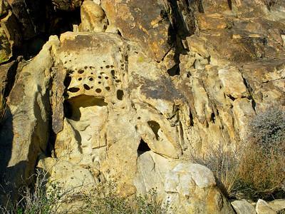 Holes in rock