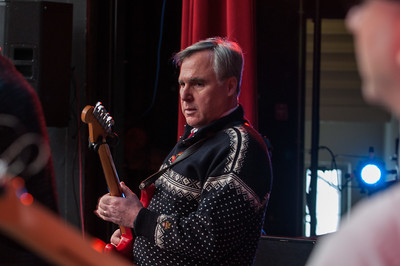 Morning Meeting 2/12/15: Jim Lehner & The Penalty Crew of Love w/ Jimmy Putko on Drums (15), Mary Collette on Bass Guitar (17) & The Rhino Horns. (Photo by Yee-Fun Yin)