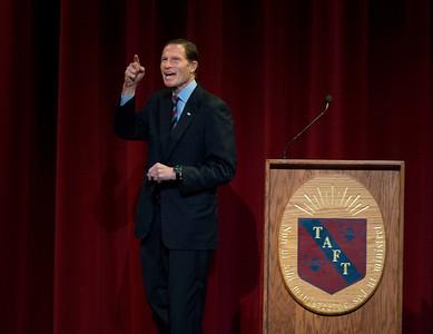 Sen. Richard Blumenthal (D-CT) speaking at Taft