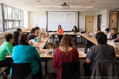 Ruth Behar in discussion with students and faculty on May 21, 2015- Stroum Jewish Studies