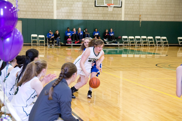 Varsity Basketball Senior Day vs. Hightstown