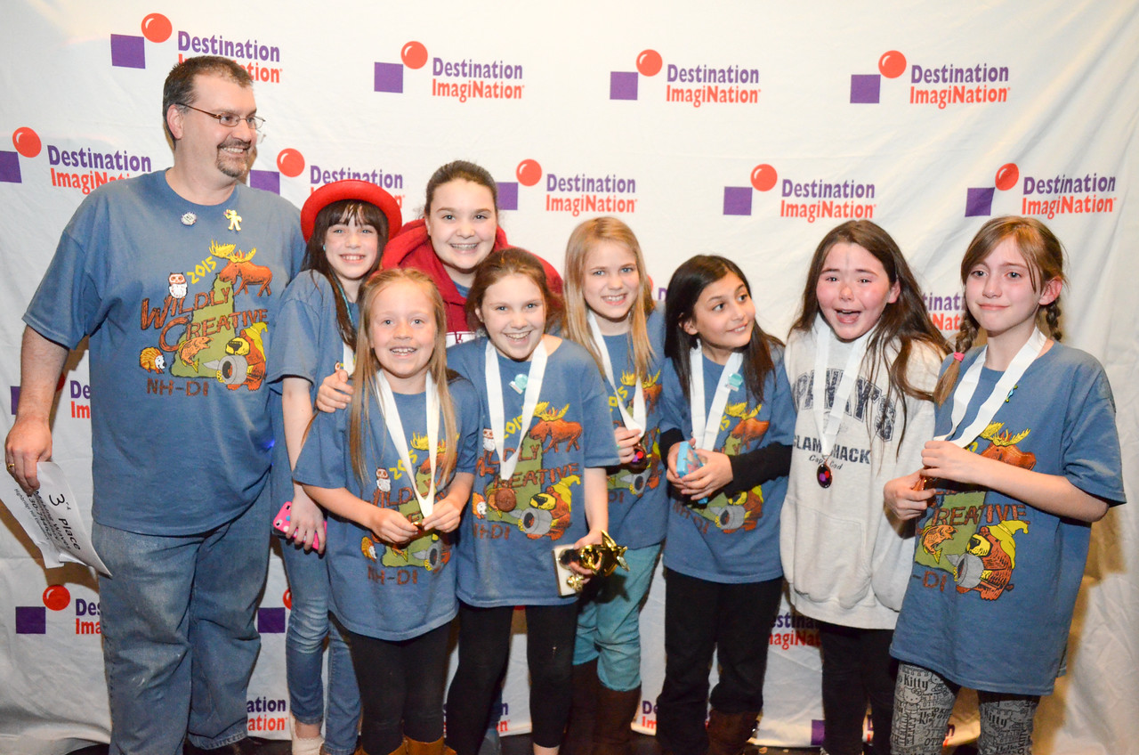 Highbridge Hill Elementary , New Ipswich , Scientific Challenge: Making Waves , elementary , 130-74462, Third Place, Wildcard Team Winner, advancing to Global Finals.