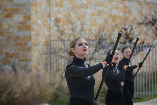 Winterguard Show in Dripping Springs 1/24