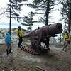 WWII gun on the island