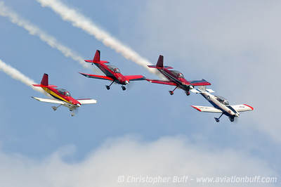 Team AeroDynamix 4 ship  - By Christopher Buff, www.Aviationbuff.com