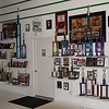 Inside Roger's Hanger where he has his trophy wall.