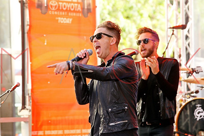 "NEW YORK, NY - JULY 25:  OneRepublic performs on NBC's ""Today"" at the NBC's TODAY Show on July 25, 2014 in New York, New York."