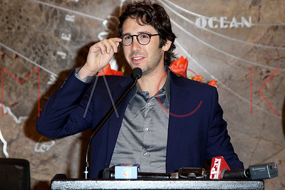 NEW YORK, NY - SEPTEMBER 16:  Josh Groban visits The Empire State Building on September 16, 2014 in New York City.