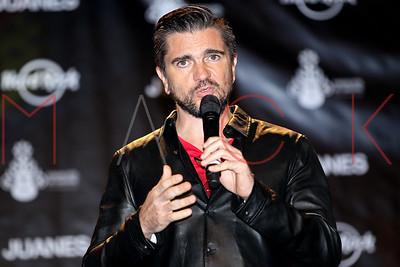 NEW YORK, NY - SEPTEMBER 23:  Juanes Artist Spotlight Merchandise Unveiling at Hard Rock Cafe - Times Square on September 23, 2014 in New York City.