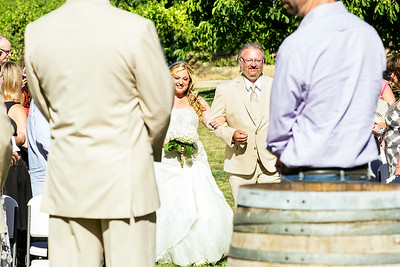The wedding of Heather Wood and Scott Brandt on June 28, 2014, at Amador Cellars in Plymouth, CA.