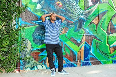 Portraits of hiphop artist Deandre Bradstreet