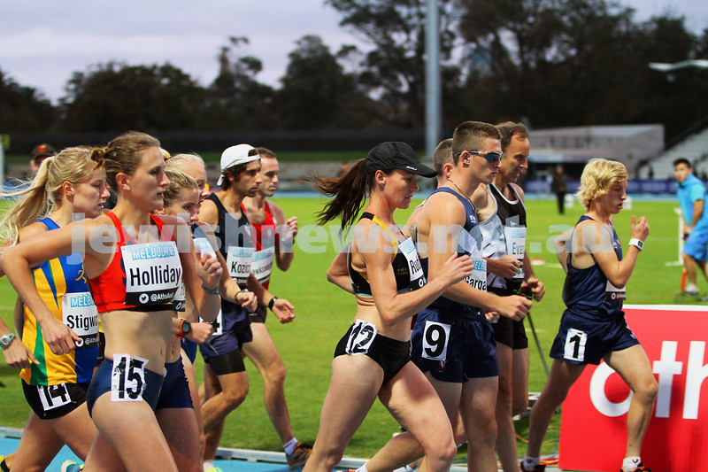 4-4-14. Australian Athletics Championships. Lakeside Stadium, Albert Park. Photo: Peter Haskin