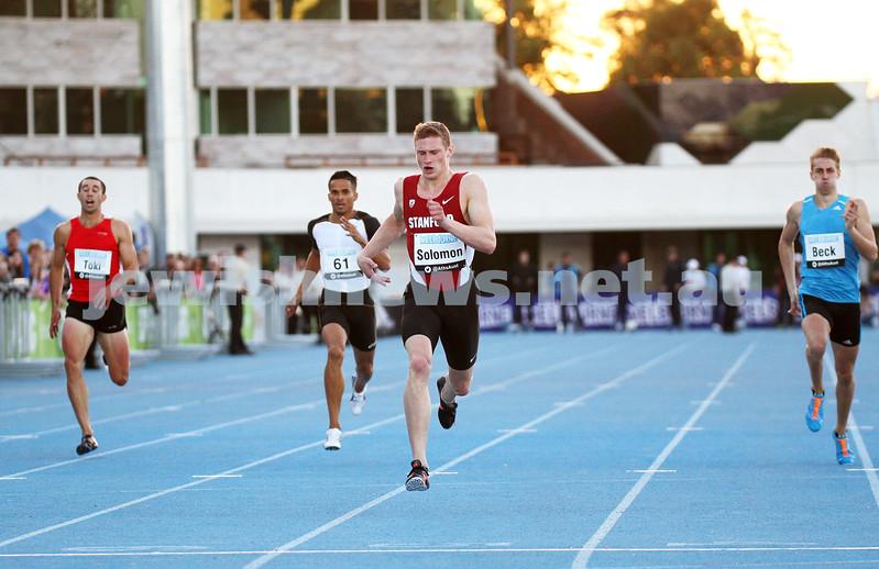 5-4-14. 2014 Australian Athletics Championships, Lakeside Stadium, Albert Park. Steve Solomon 400m final. Photo: Peter Haskin
