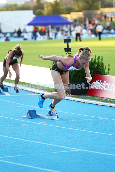 5-4-14. 2014 Australian Athletics Championships, Lakeside Stadium, Albert Park. Womens 400m final. Photo: Peter Haskin