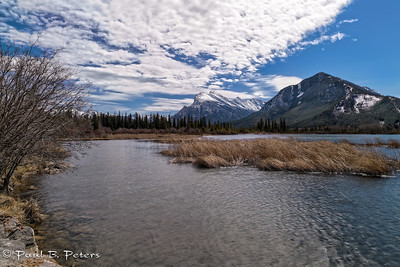 Vermillion Lakes looking towards Mt Rundle