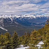 looking west from Sulphur Mtn
