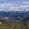 Banff townsite and surrounding area