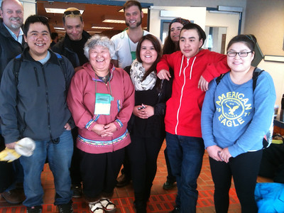 Elder Edith Nageak with friends & Winter Bear cast