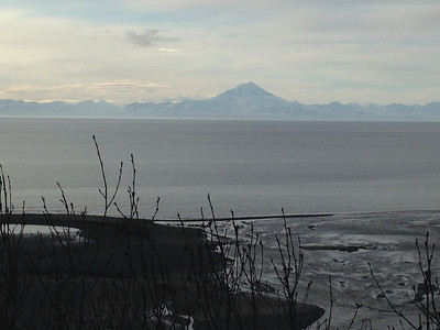 Mount Redoubt from The Bluff House