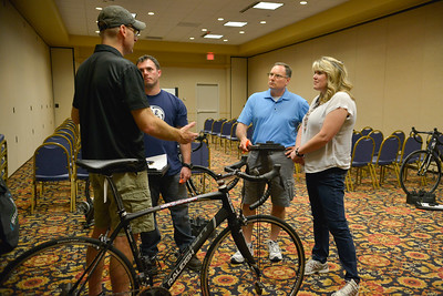 Participants attend the UnitedHealthcare Health Expo and registration orientation during the 2014 Ride 2 Recovery Bluegrass Challenge. As a 501(c)(3) organization, R2R helps injured active duty service members and veterans improve their health and wellness through individual and group cycling.