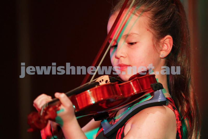 14-9-14. B'nai B'rith Youth Eisteddfod 2014. Finals Concert, Slome Hall, Temple Beth Israel. Rylee Sack. Photo: Peter Haskin