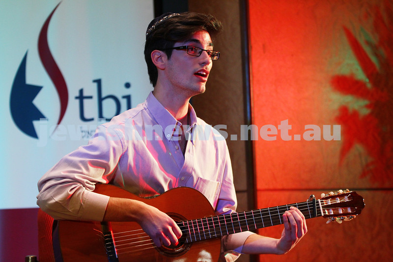 14-9-14. B'nai B'rith Youth Eisteddfod 2014. Finals Concert, Slome Hall, Temple Beth Israel. Itai Franco. Photo: Peter Haskin