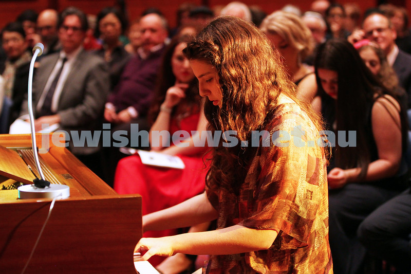 14-9-14. B'nai B'rith Youth Eisteddfod 2014. Finals Concert, Slome Hall, Temple Beth Israel. Anna Rabinowicz. Photo: Peter Haskin