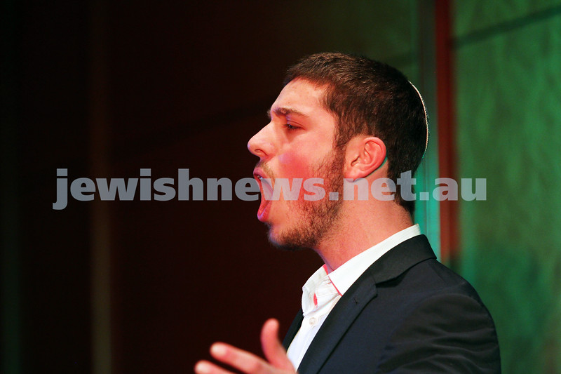 14-9-14. B'nai B'rith Youth Eisteddfod 2014. Finals Concert, Slome Hall, Temple Beth Israel. Mordechai Levin. Photo: Peter Haskin