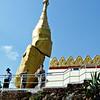 Nwa La Bo Pagoda's balancing golden rock