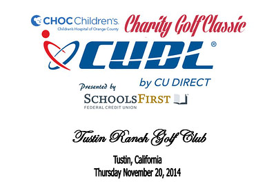 2014 CU Direct Golf Classic presented by Schools First FCU benefiting CHOC