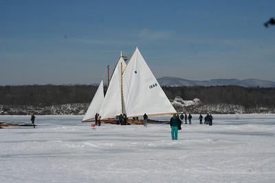 Ice Boating On Hudson River --Rocket Take Off