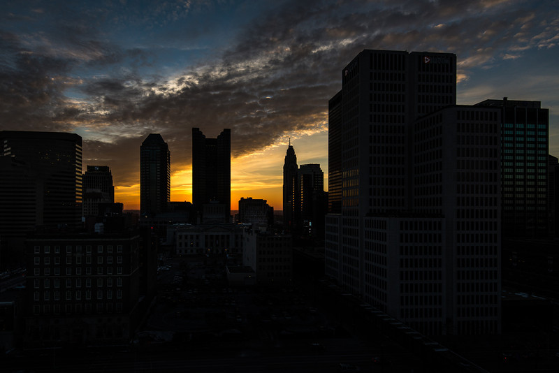 Sunset Skyline Silhouette