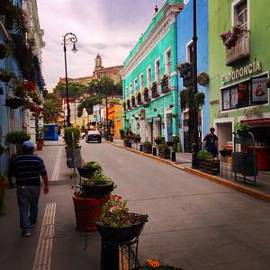 Street of flowers, Atlixco, Mexico
