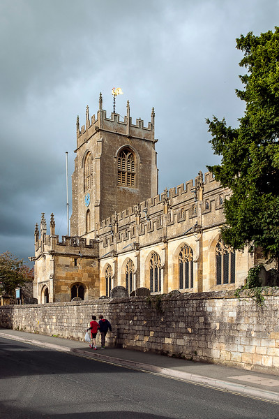 A church in Winchcombe, Glouchestershire, in the Cotswolds